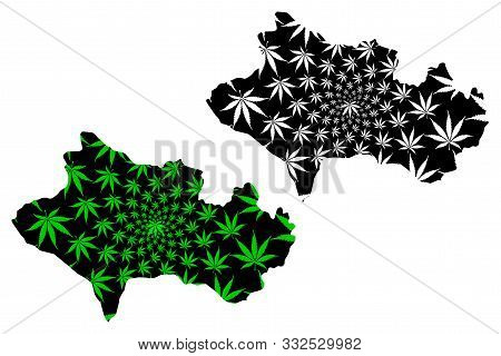 Lorestan Province (provinces Of Iran, Islamic Republic Of Iran, Persia) Map Is Designed Cannabis Lea