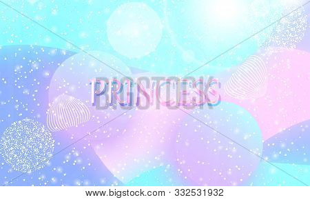 Princess Background. Mermaid Rainbow. Magic Stars Pink. Unicorn Pattern. Fantasy Galaxy. Fairytale G