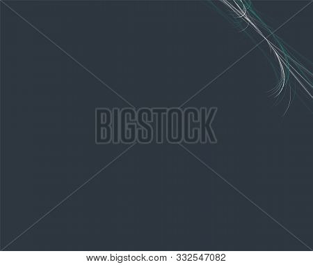 Cute Navy Background With Elegant Decoration With Think Interlaced Green And Grey Lines In The Form