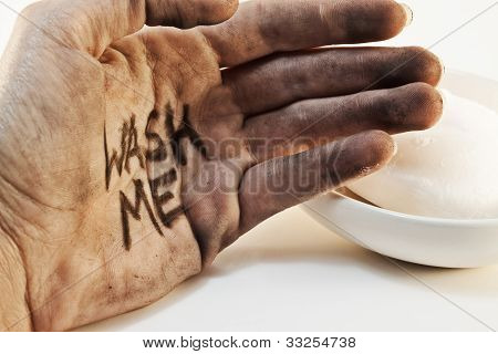 Dirty Hand With Soap