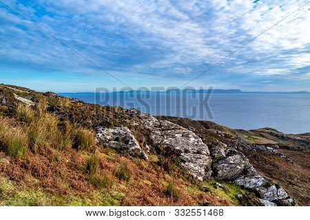 Sligo Seen From The Slieve League Cliffs In County Donegal - Ireland