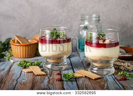Delicious Dessert In Glass