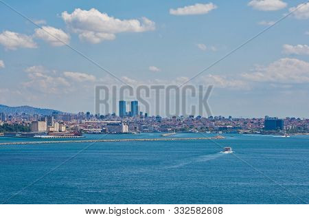 Istanbul Viewed From The Near The Sofa Mosque In Topkapi Palace, An Area Also Called The Fifth Place