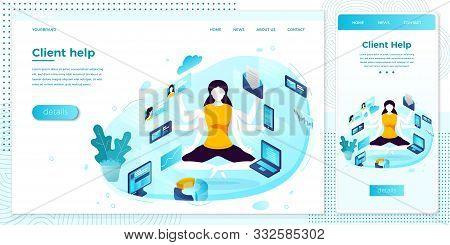 Vector Illustration Multi Task Manager Girl Set