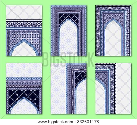 Set Of Islamic Style Page Layouts Design Template, Creative Art Elements And Ornament, Brochure And