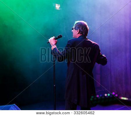 Odessa, Ukraine - Nov. 1, 2019: Concert Performance By Adriano Celentano. Soloist Of The Music Group