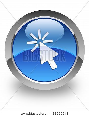 Cursor glossy icon
