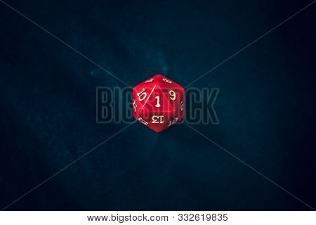 New 20 Sided Die With 1 Face The Camera