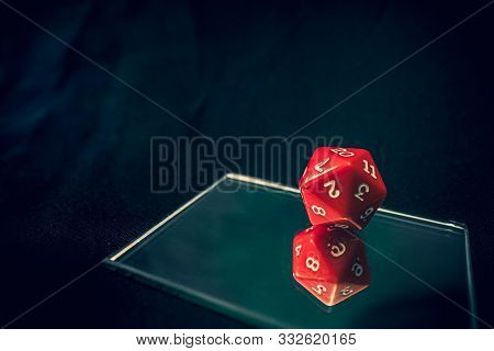 New 20 Sided Die With 20 Faceing Straight Up