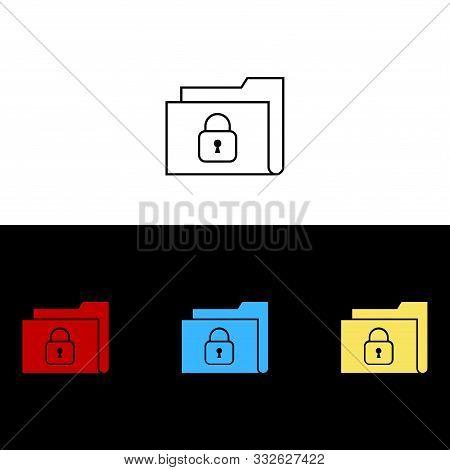 Secure Folder Icon Isolated On White Background From Security Collection. Secure Folder Icon Trendy