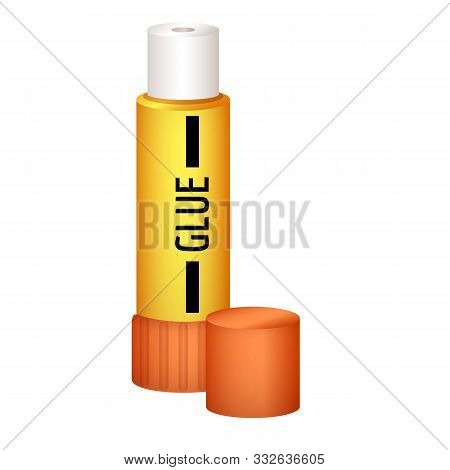 Glue Stick Icon. Cartoon Of Glue Stick Vector Icon For Web Design Isolated On White Background