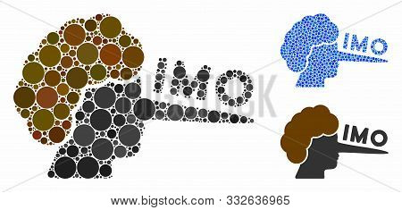 Imo Lier Composition Of Circle Elements In Various Sizes And Color Tinges, Based On Imo Lier Icon. V