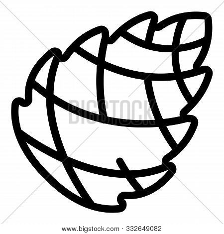 Crimean Pine Cone Icon. Outline Crimean Pine Cone Vector Icon For Web Design Isolated On White Backg