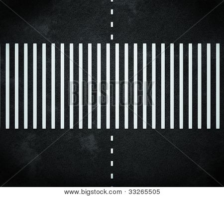 Stripes on Asphalt Road