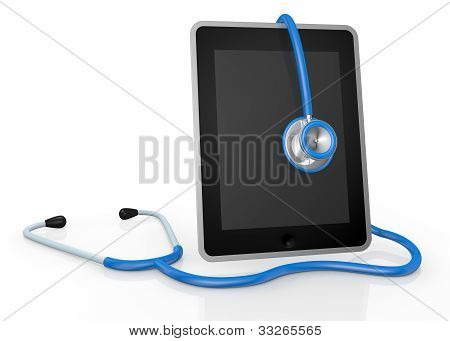 Tablet Pc And Stethoscope
