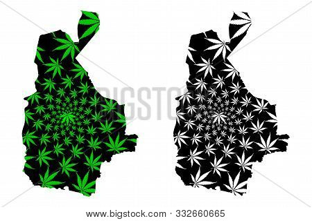 Sistan And Baluchestan Province (islamic Republic Of Iran, Persia) Map Is Designed Cannabis Leaf Gre