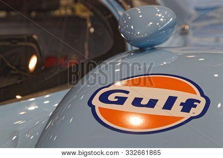 Lyon, France, November 8, 2019 : Porsche At The Motorshow. The Salon Epoq Auto Stands In Lyon Since