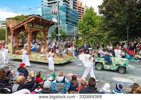 Adelaide, Australia - November 9, 2019: National Pharmacies Christmas Pageant 2019 Traditional Event