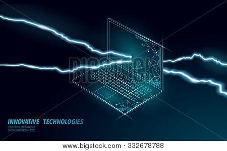 Fatal Computer System Crash. Software Error Bug Data Lost. Computer Service Repair Help Business Con