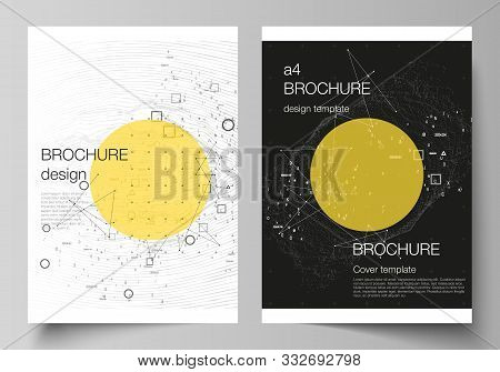 Vector Layout Of A4 Format Modern Cover Mockups Design Templates For Brochure, Magazine, Flyer, Repo