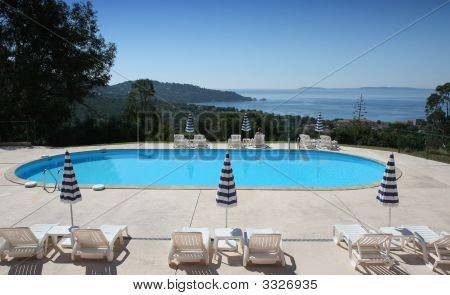 Poolside At Le Lavandou, French Riviera, France.