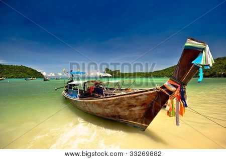 Boat at amazing Thailand beach