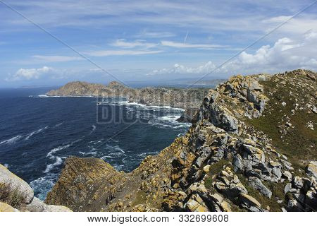 Panoramic From The Lighthouse Of The Cies Islands (pontevedra - Spain)