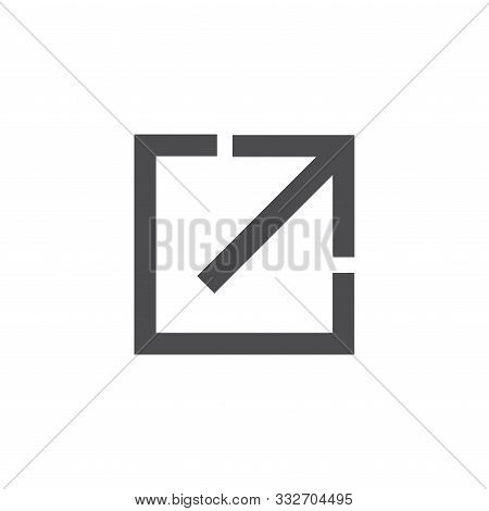 External Link Icon W Arrow And Line With Box