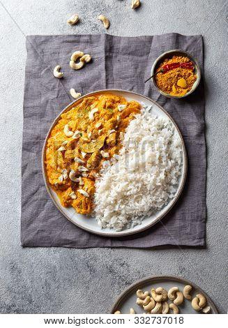 Tradishional Indian Food Lamb Korma With Cashew