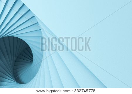Blank And Vortical Paper Cards With Triangle Shape, 3D Rendering.