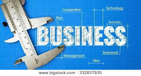 Business Growth Measuring Concept. Business Concept Of Measuring Performance For Business Growth Wit