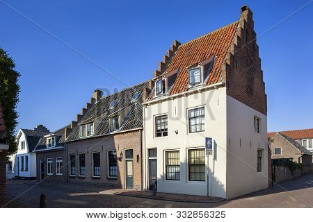 Nostalgia old historical street in Vianen in the Netherlands poster