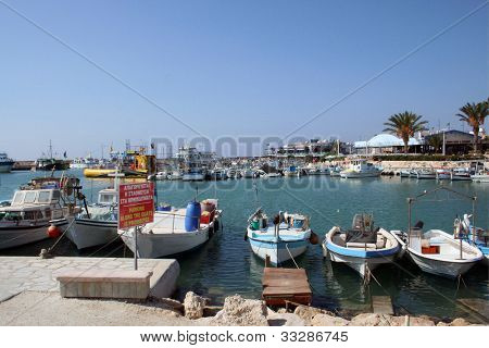 Tourist resort of Ayia Napa on island of Cyprus.