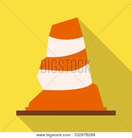 Vector Illustration Of Road And Cone Logo. Web Element Of Road And Rumpled Vector Icon For Stock.
