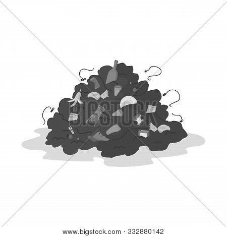 Vector Design Of Landfill And Trash Symbol. Web Element Of Landfill And Dump Stock Vector Illustrati