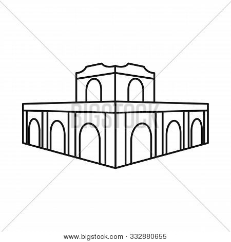 Vector Illustration Of Building And Vietnam Sign. Set Of Building And Architecture Vector Icon For S