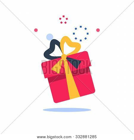 Surprise Box, Special Reward, Prize Giveaway, Loyalty Present, Incentive Or Perks, Bonus Program, Cr