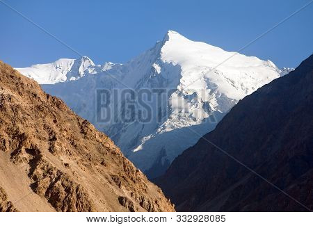 Hindukush Or Hindu Kush Mountain Ridge, Tahikistan And Afghanistan, View From Pamir Highvay Or Pamir