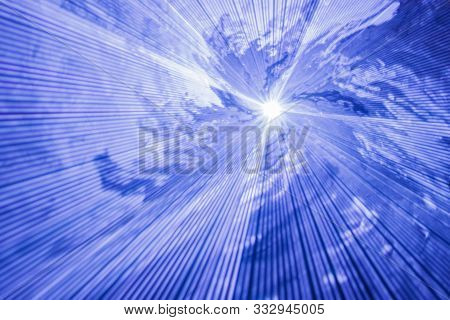 Abstract Blurred Radial Background - Strobe Rays In Smoke