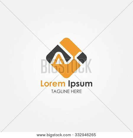 Ax Letter Logo Vector Design. Ax Square Logo Design. Ax. Rectangle. Ax Square Logo. Font. Template.