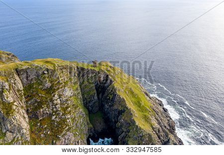 Next To Slieve League Is The Carrigan Head With The Signal Tower