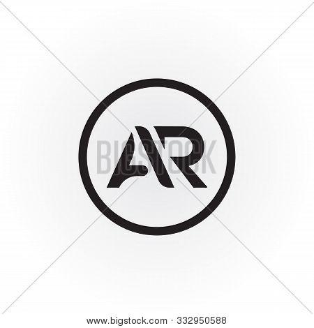 Initial Ar Letter Logo Vector Design. Ar Circle Letter Logo Design. Circle Ar Logo. Template. Typogr