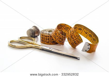 Creative Service Sewing Measuring Tape Scissors And Thimble Needlework And Sewing Accessories, Hobbi