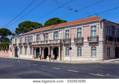 Lisbon, Portugal - October 20, 2019: Picadeiro Real section of Museu Nacional dos Coches or Horse Drawn Coach Museum. The most visited museum in Portugal with royal and noble horse drawn coaches.