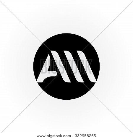 Am Or Aw Circle Letter Logo Vector Design. Am Or Aw Circle Logo.  Am Or Aw Logo Design. Aw Logo. Aw