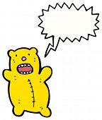 crazy little teddy bear cartoon poster