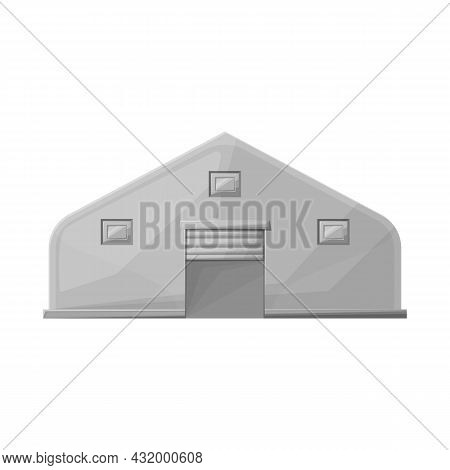 Vector Illustration Of Hangar And Awning Logo. Graphic Of Hangar And Warehouse Stock Symbol For Web.