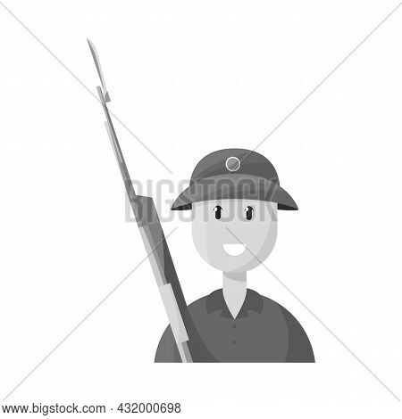 Vector Design Of Vietnamese And Soldier Sign. Collection Of Vietnamese And Man Stock Vector Illustra