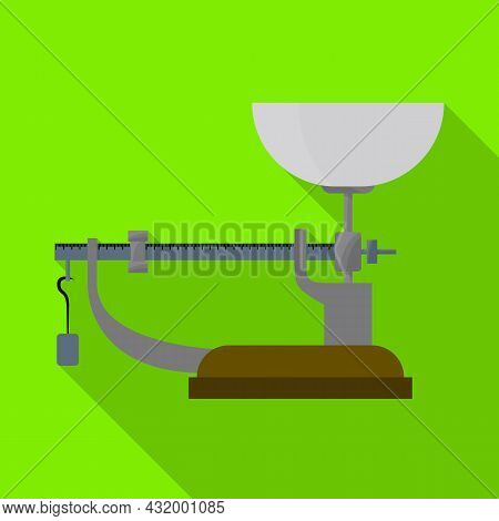 Isolated Object Of Scales And Balance Symbol. Web Element Of Scales And Equipment Stock Vector Illus