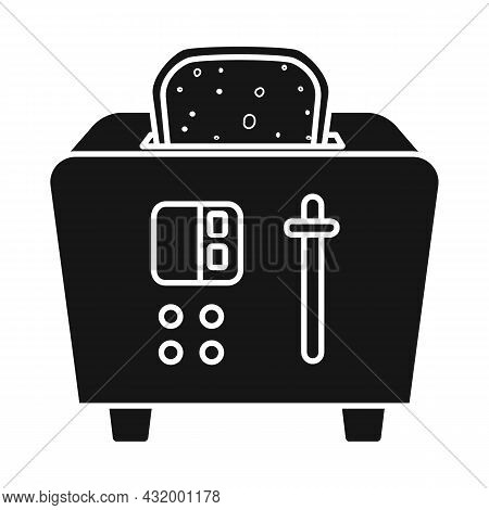 Vector Design Of Toaster And Toast Icon. Web Element Of Toaster And Menu Vector Icon For Stock.